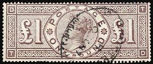 2803: #124, 1891 £1 Green,