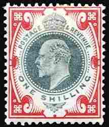 #127-38, 1902/11 ½p-1/- Edward VII,