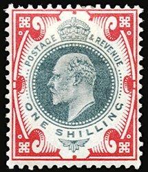 2804: #127-38, 1902/11 ½p-1/- Edward VII,