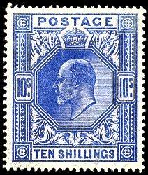 2805: #139-41, 1902 2/6-10/- Edward VII,