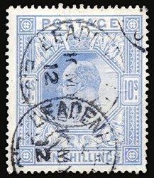 2808: #141, 1902 10/- Ultramarine,