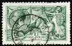 #176, 1913 £1 Green,