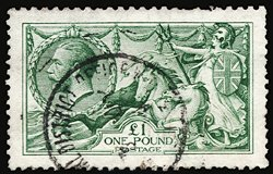 2815: #176, 1913 £1 Green,