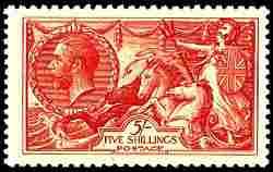1919, 5sh Carmine Rose