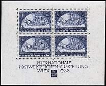 3139: #B111, 1933 WIPA souvenir sheet,