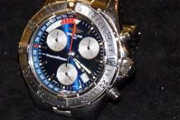 Breitling Transocean chronograph wristwatch with date