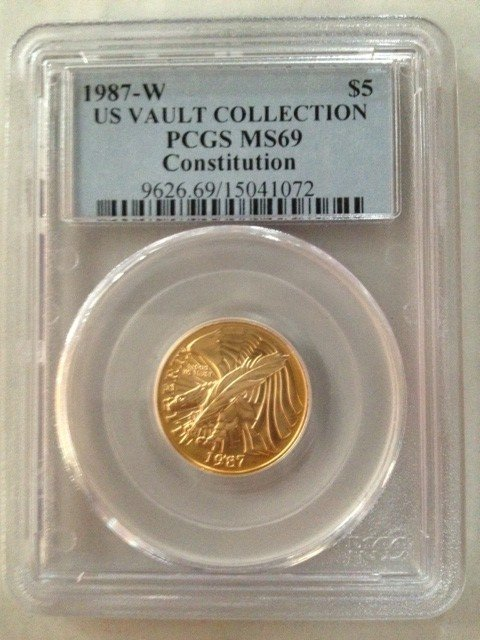 US Gold coin - 1987 constitution MS69
