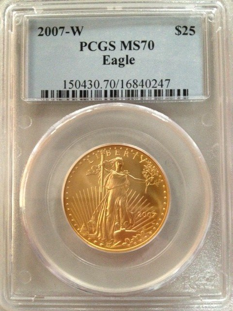 US Gold coin - 1987 Eagle MS70
