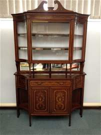 A very fine mirror backed side cabinet in the Sheraton