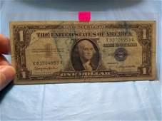 1957B 1 Silver Certificate X 83704953 A