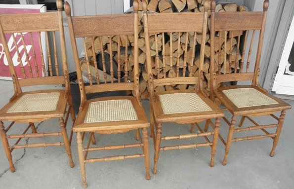 Set of 4 Cane Chairs