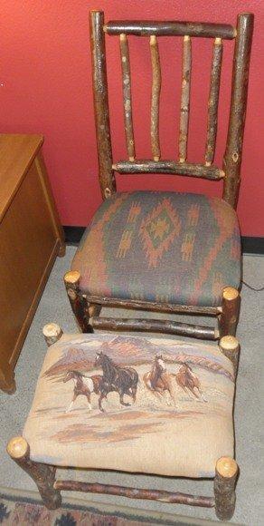 Western Chair & Footstool