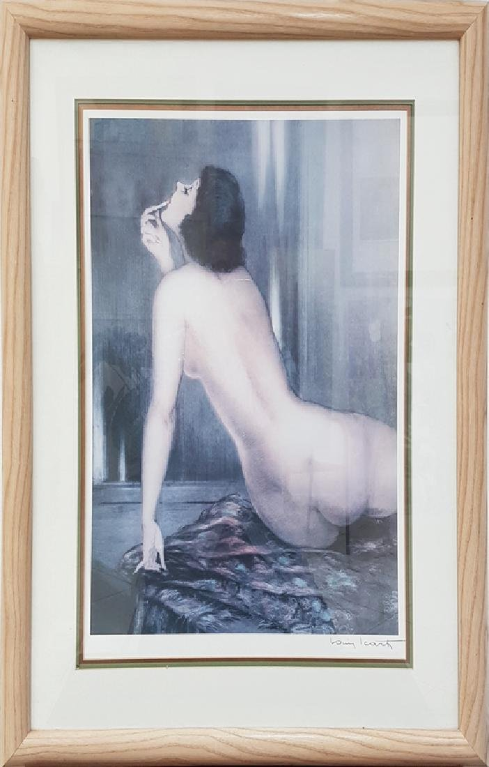 Louis Icart SIGNED COLOR LITHOGRAPH PRINT