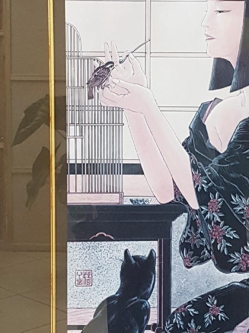 JAPANESE SIGNED COLOR LITHOGRAPH - 2