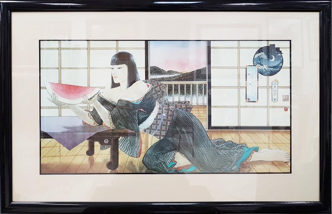 JAPANESE SIGNED COLOR LITHOGRAPH