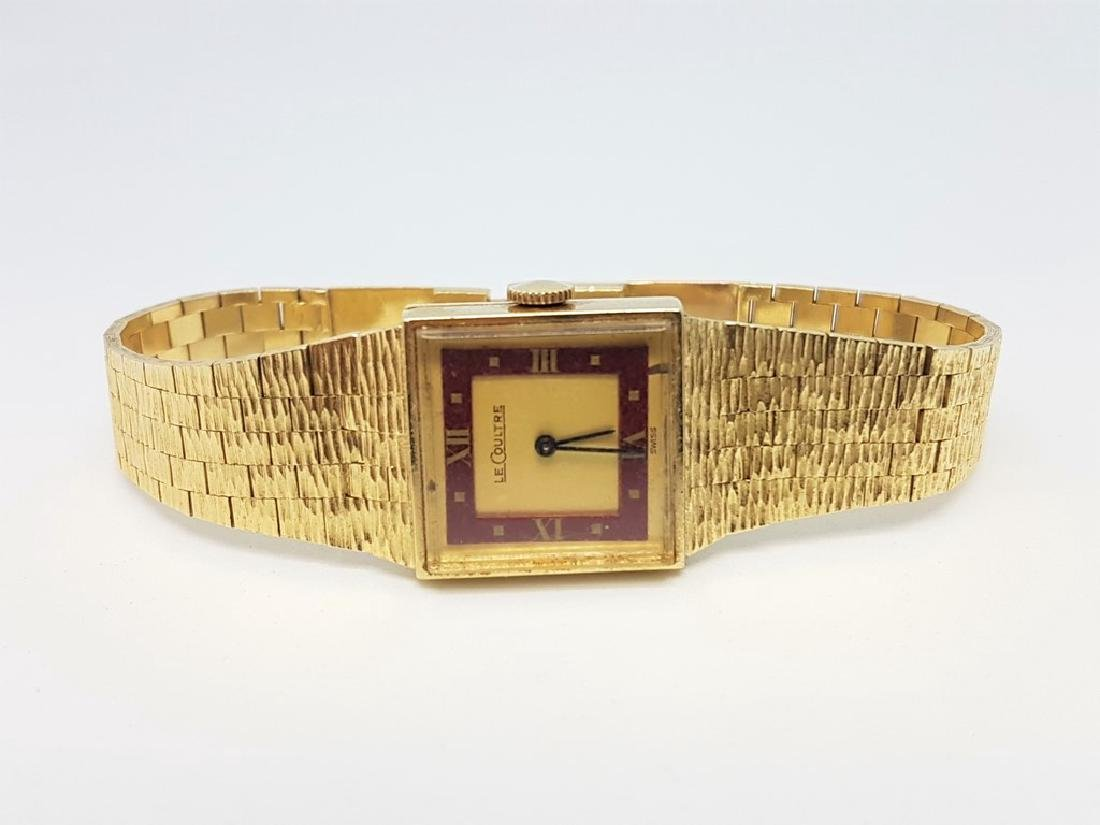 LE COULTRE VINTAGE LADIES 14K YELLOW GOLD WRISTWATCH