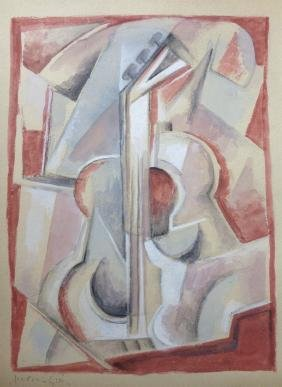 JUAN  GRIS   PENCIL AND WATERCOLOR ON PAPER WITH
