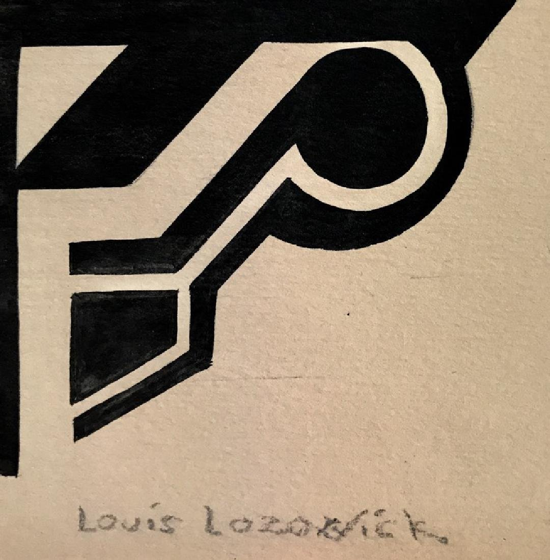 LOUIS LOZOWICK INK ON PAPER - 2