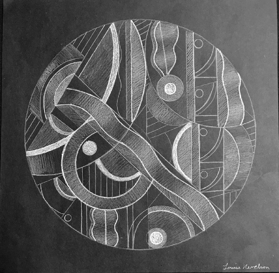 LOUISE NEVELSON PENCIL ON PAPER WITH CERTIFICATE