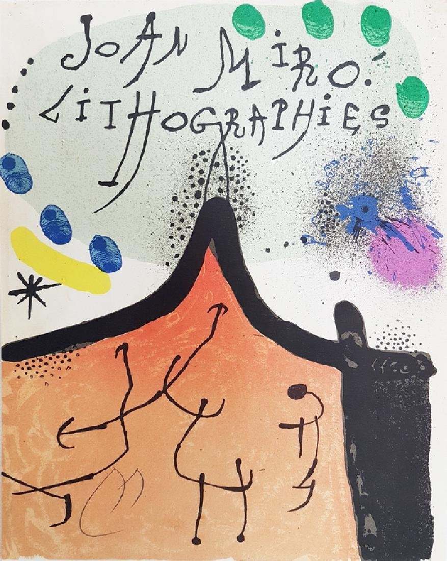 JOAN MIRO SIGNED COLOR LITHOGRAPH
