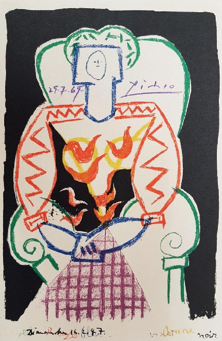 PABLO PICASSO SIGNED COLOR LITHOGRAPH