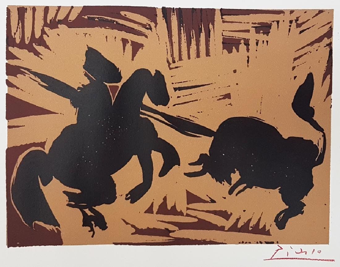 PABLO PICASSO HAND SIGNED LINOCUT