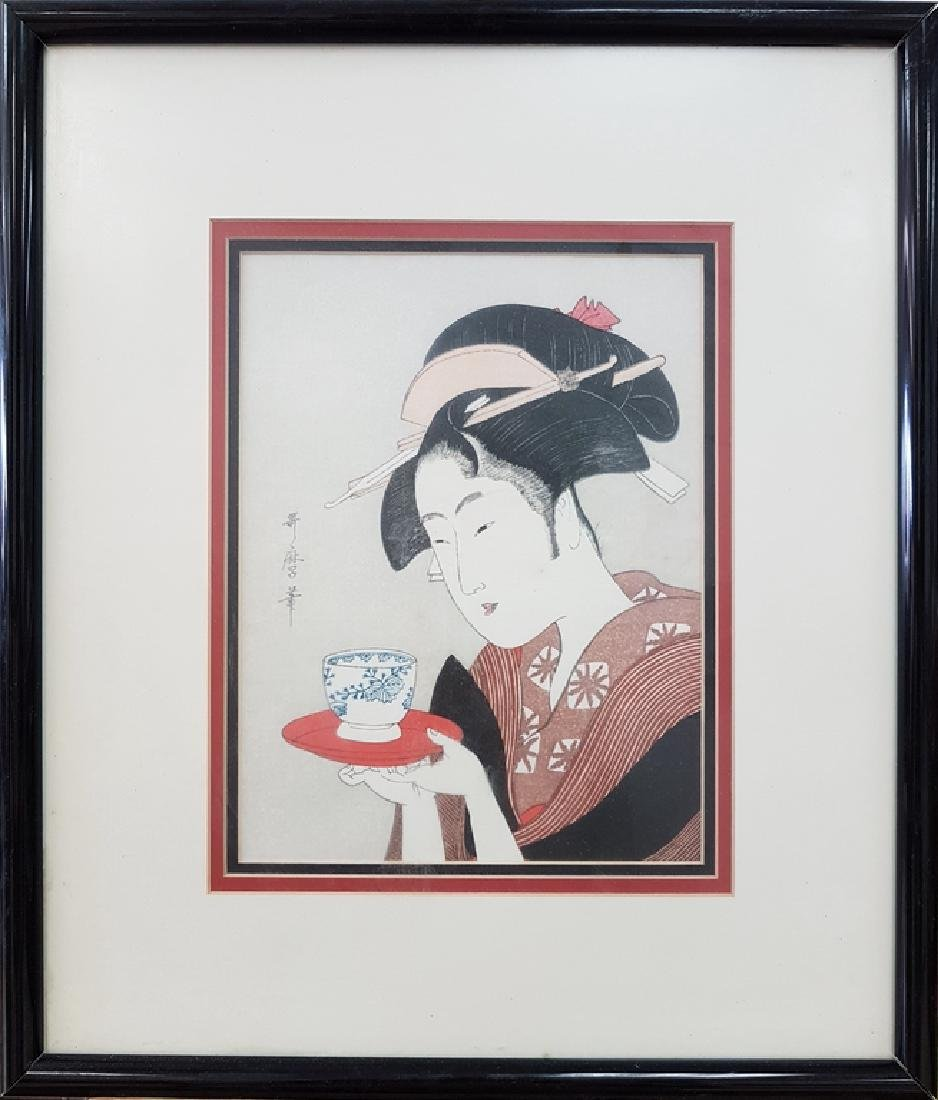 ANTIQUE CHINESE WOOD BLOCK COLOR PRINT