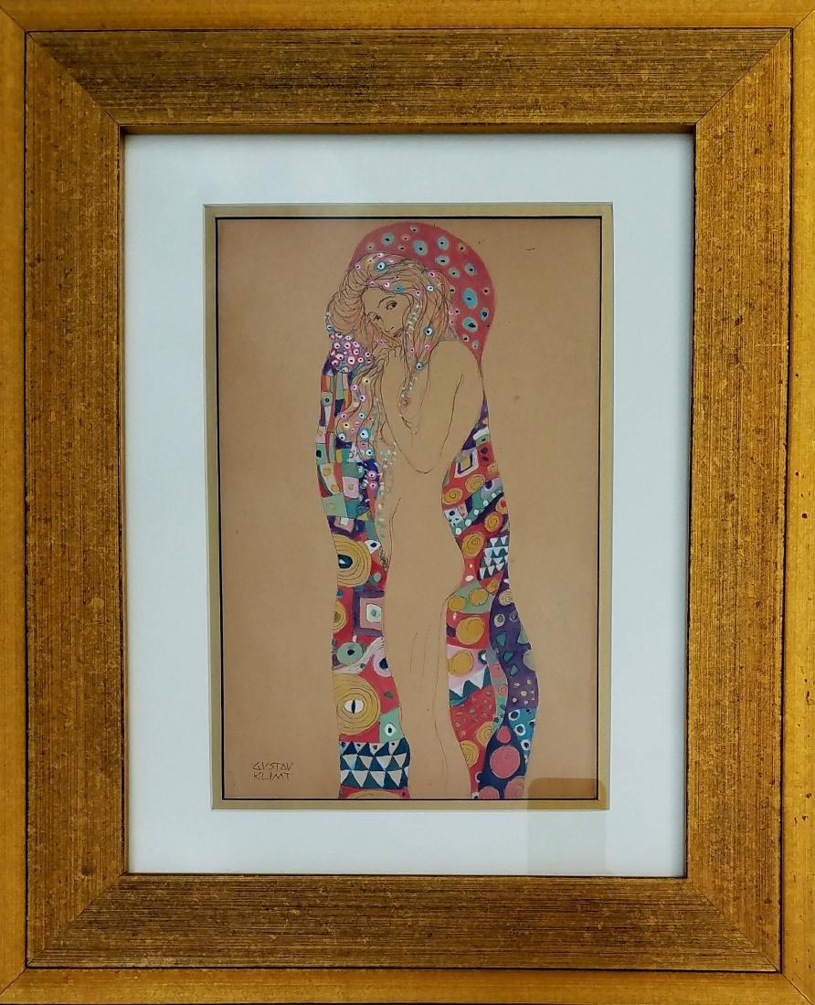 WATERCOLOR & INK ON PAPER Klimt