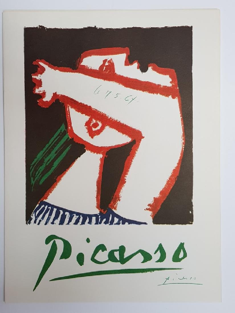 PICASSO HAND SIGNED POSTER LITHOGRAPHE