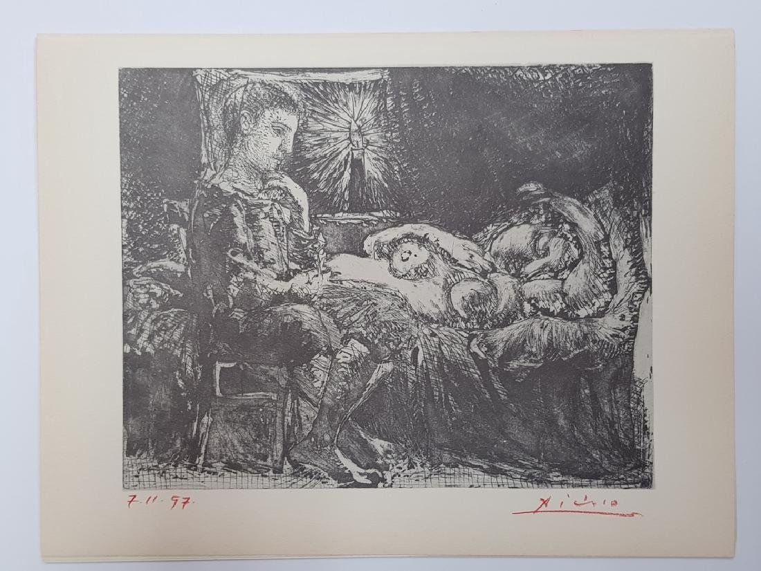 """PICASSO HAND SIGNED LITHOGRAPHE SUITE VOLLARD 11"""" X"""
