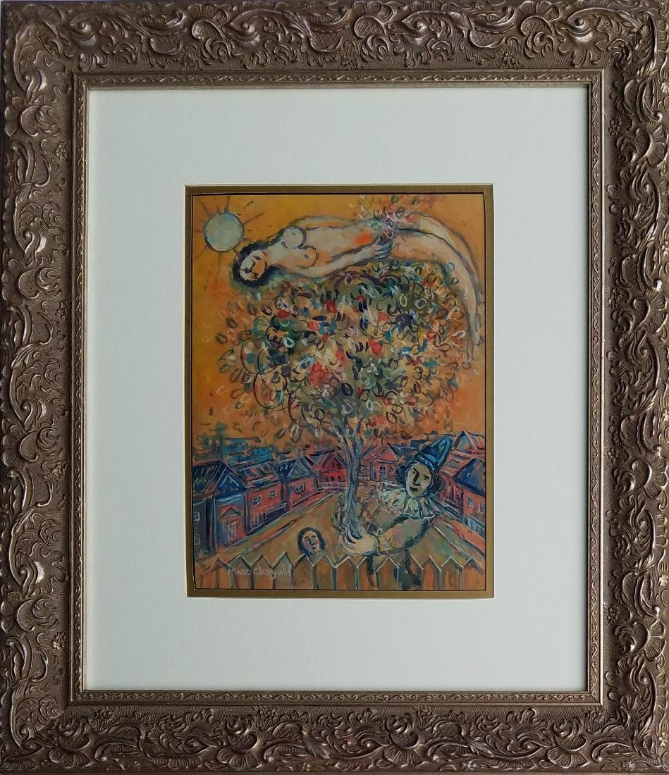 GOUACHE ON PAPER Chagall