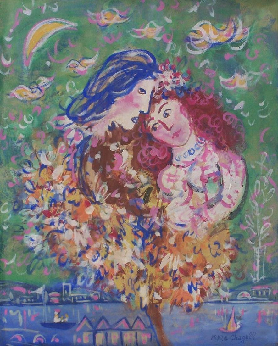 Attributed to Chagall, Gouache on Paper
