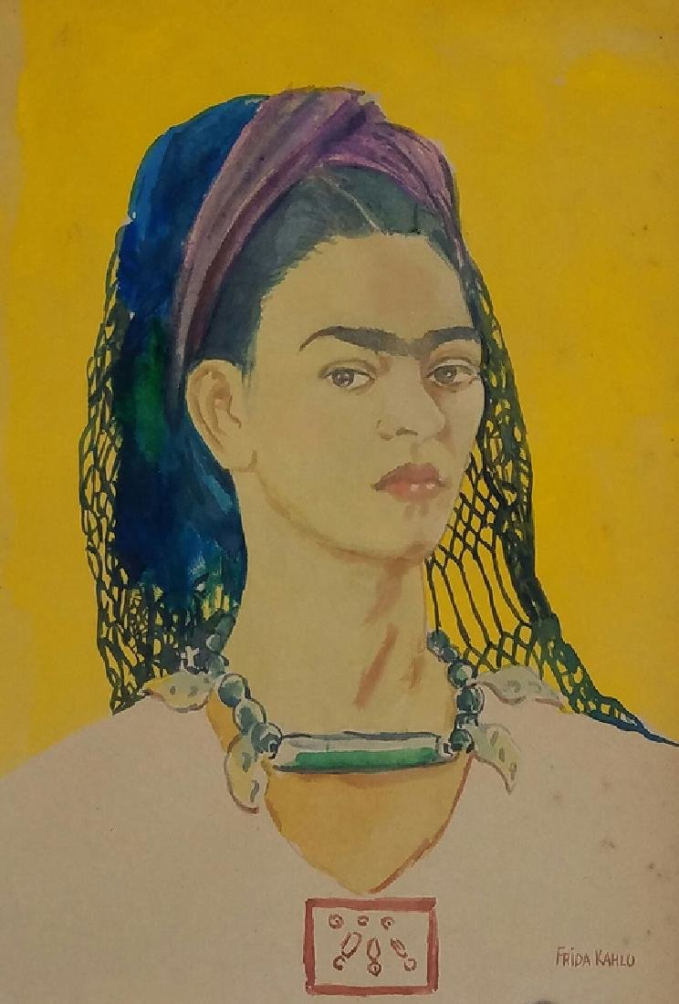 FRIDA KHALO WATERCOLOR ON PAPER