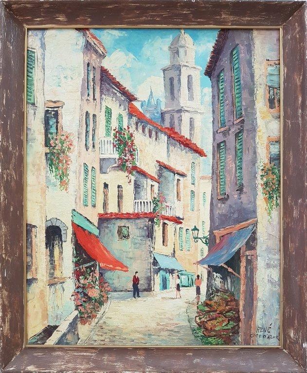 RENE COTE D' AZUR oil on canvas