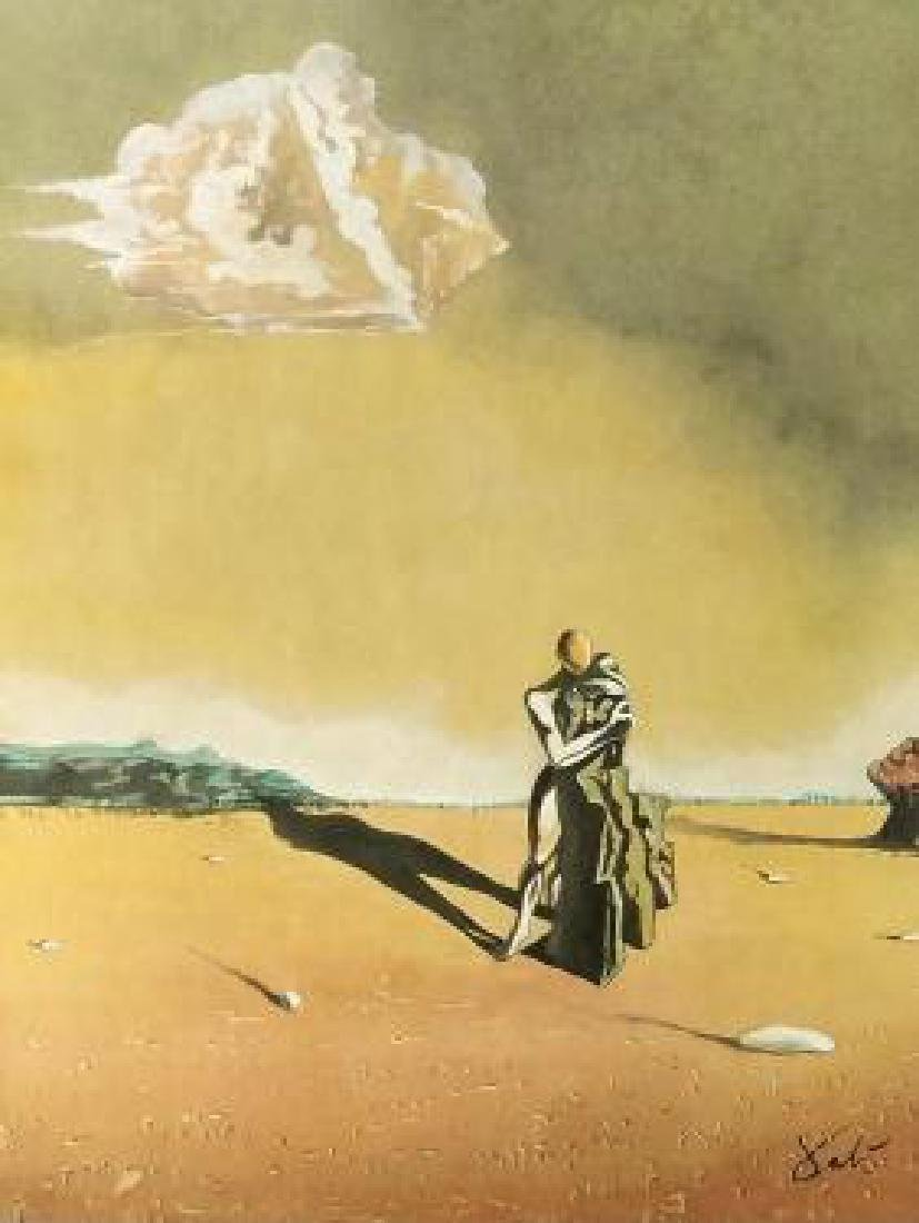 WATERCOLOR ON PAPER SIGNED DALI