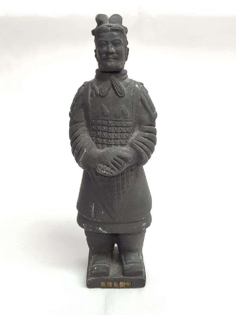 Black Japanesse Terracotta Warrior