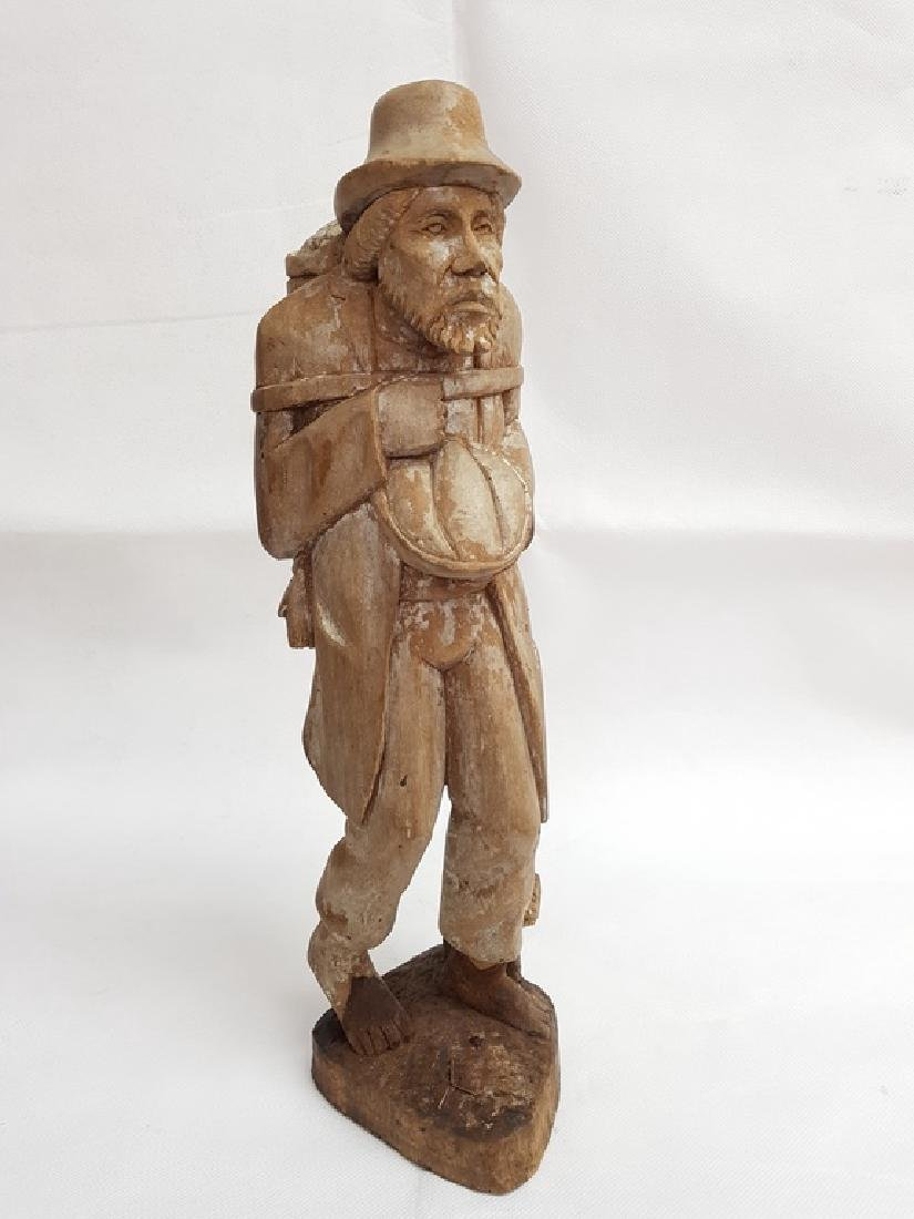 Antique Hand Carved Wood Male Figure