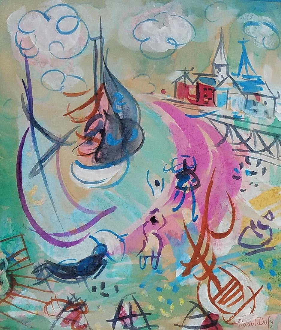 WATERCOLOR ON PAPER SIGNED RAOUL DUFY