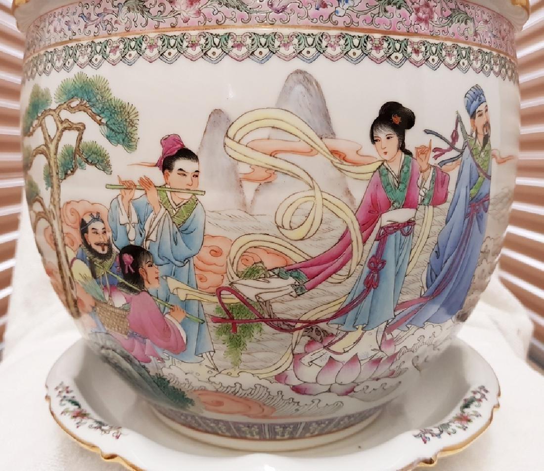 2 Pcs hand painted Porcelain Planter - 2