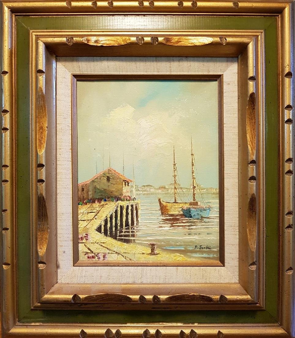 set of 3 oil on canvas nautical paintings