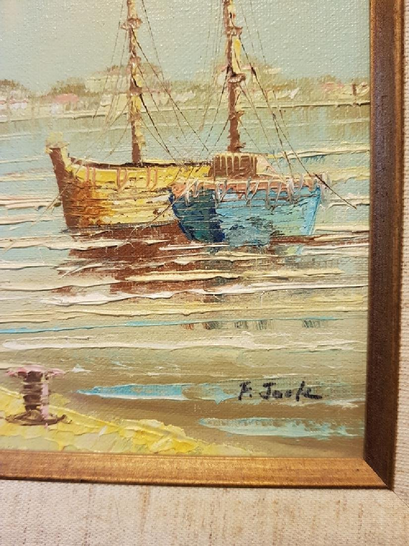 set of 3 oil on canvas nautical paintings - 2