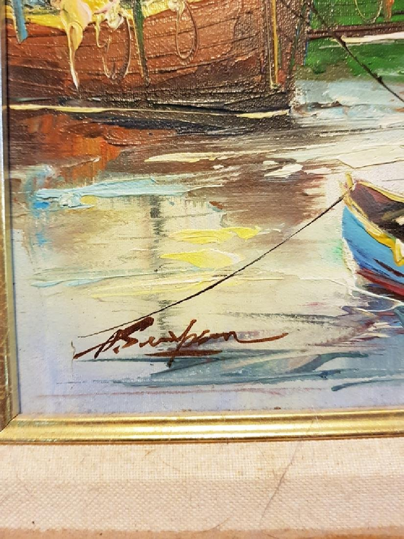 set of 3 oil on canvas nautical paintings - 4