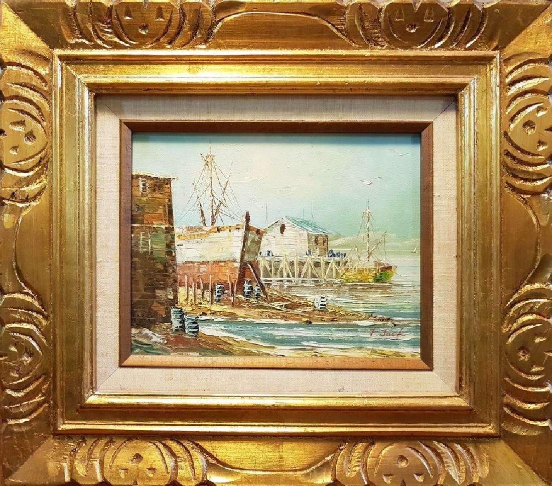 set of 3 oil on canvas nautical paintings - 5