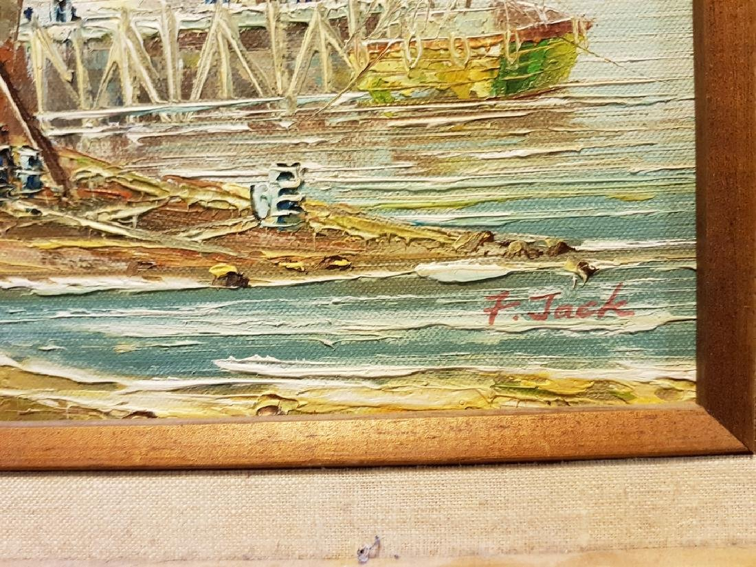 set of 3 oil on canvas nautical paintings - 6