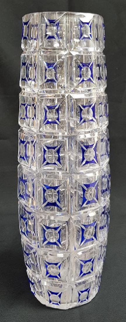 BACCARAT STYLE FRENCH CRYSTAL COLOR VASE