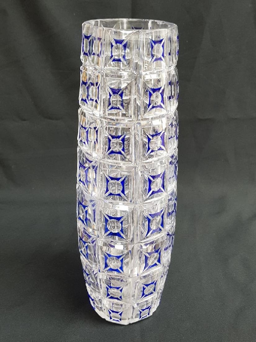 BACCARAT STYLE FRENCH CRYSTAL COLOR VASE - 2