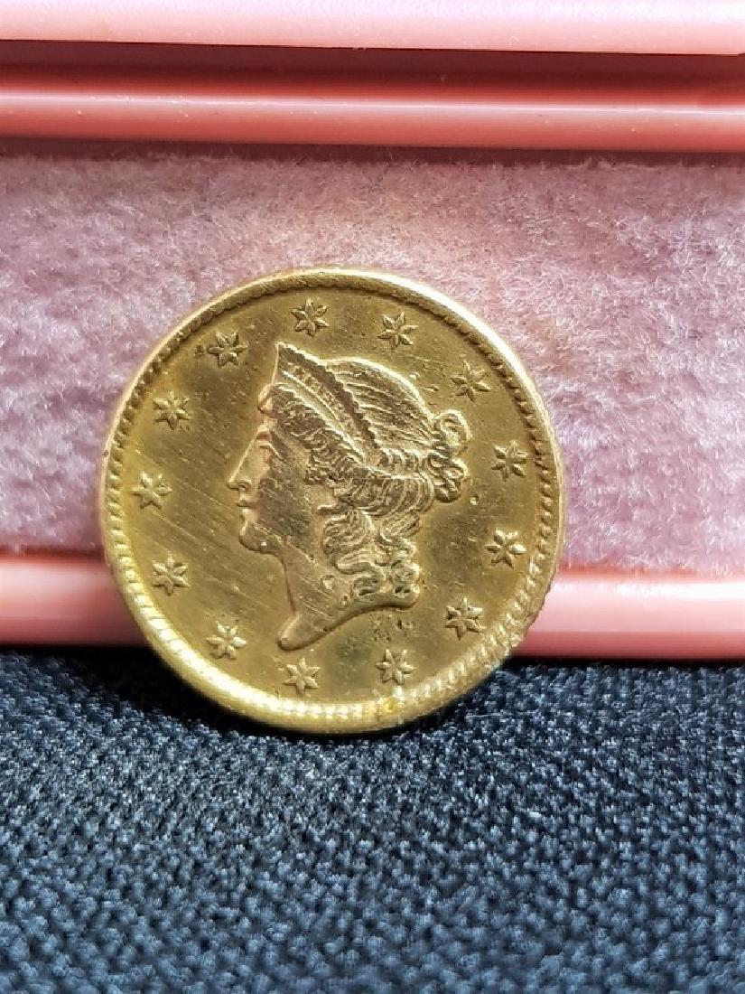 1853 USA ONE DOLLAR GOLD COIN