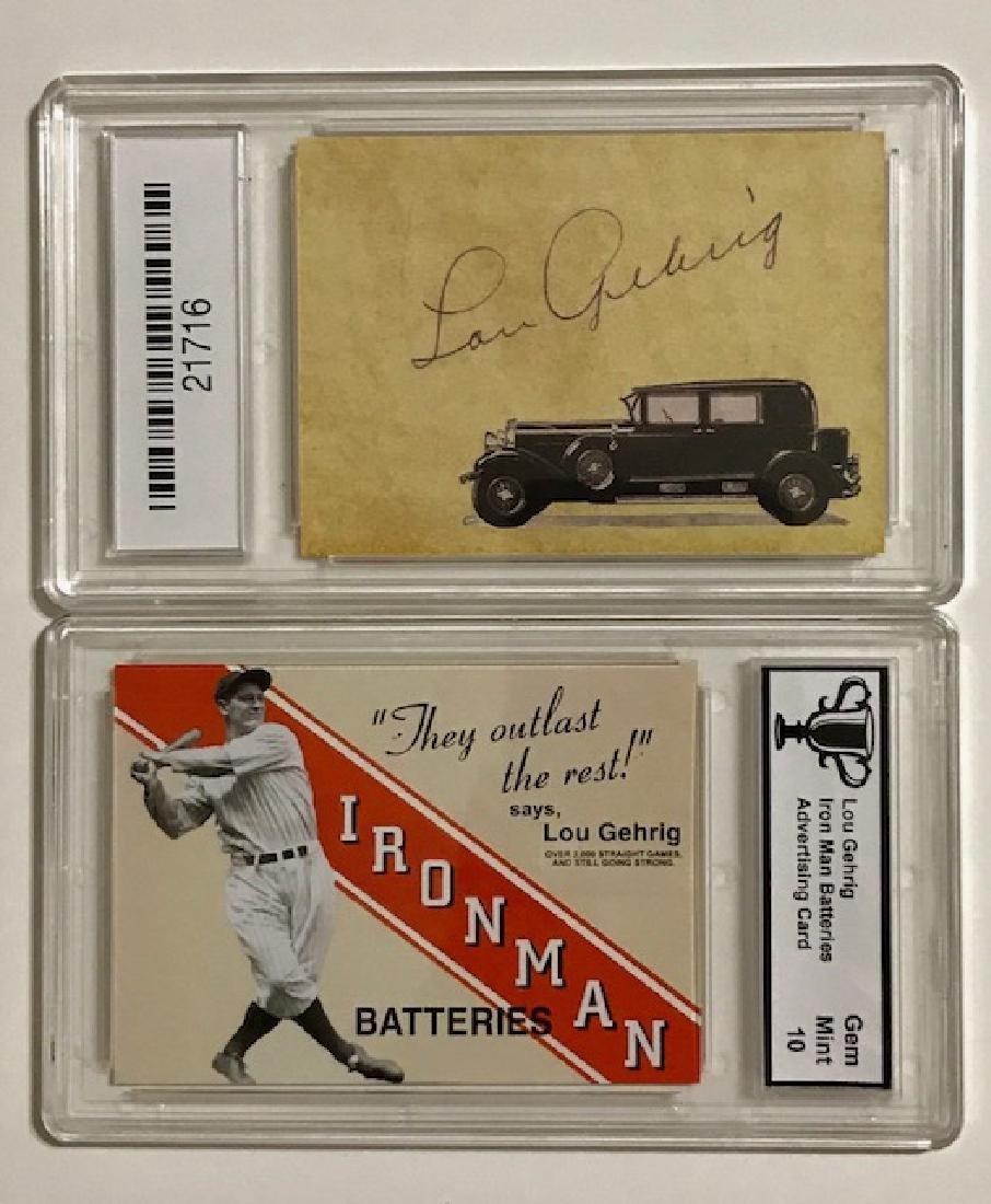 Rare Gem 10 LOU GEHRIG Advertising Baseball Card