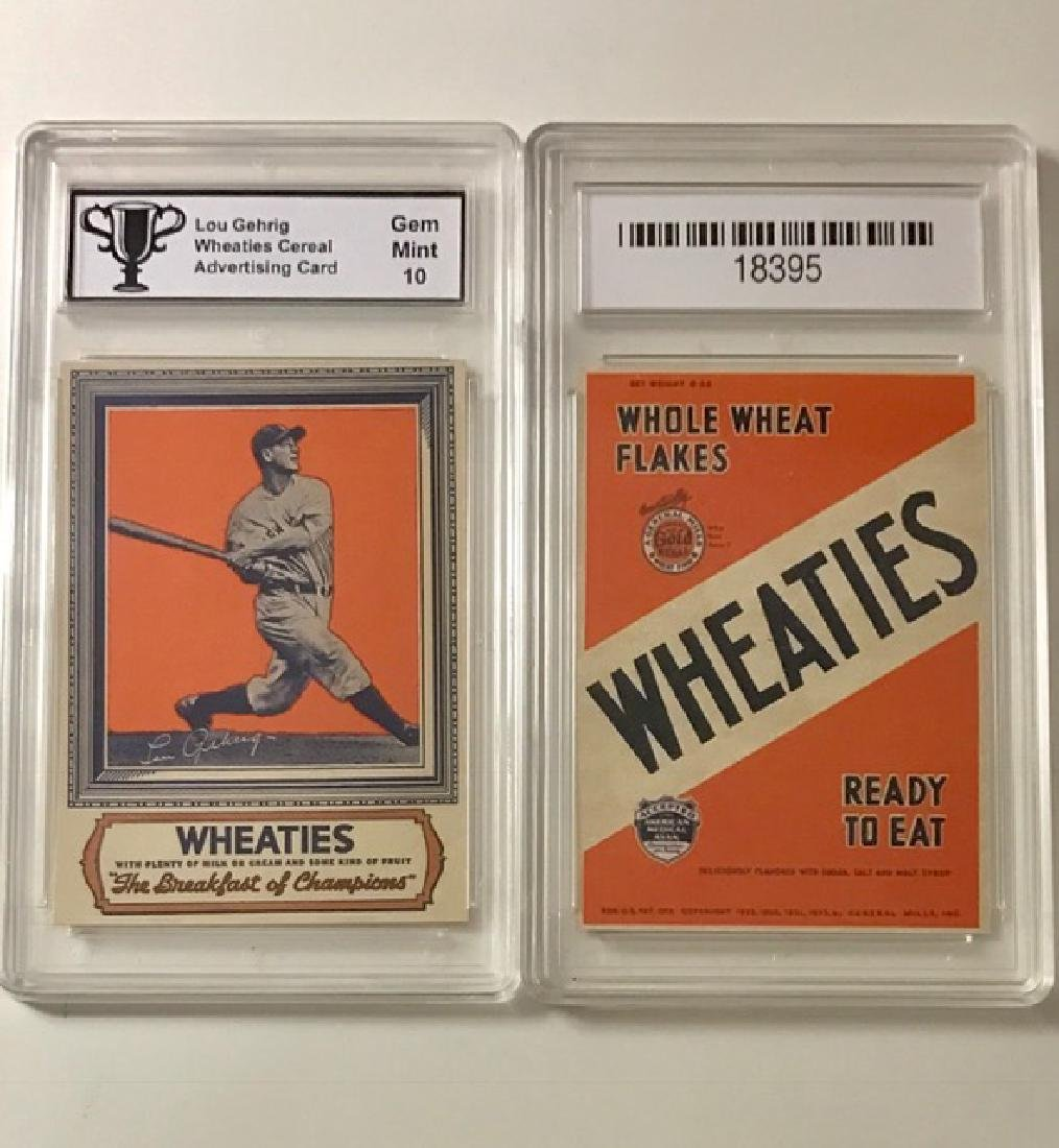 "LOU GEHRIG ""WHEATIES"" Advertising Baseball Card"