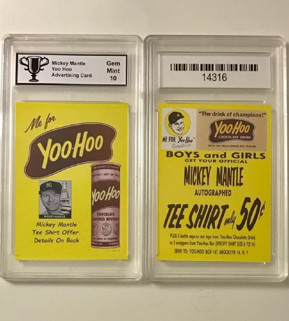 Gem 10 MICKEY MANTLE Advertising Baseball Card
